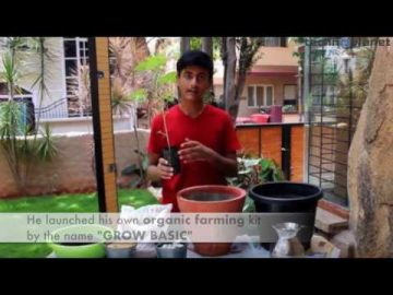 17 years old boy from bengaluru started teaching Organic farming