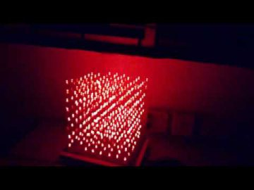 LED Cube made by students at Technoplanet